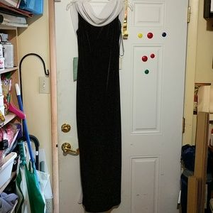 Black and white formal dress size 8